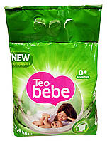 Стиральный порошок для детских вещей Teo bebe New cotton soft Sensitive Green - 2,4 кг.