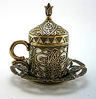 Турецкая чашка Демитассе для кофе 60 мл, цвет: бронза, фото 1