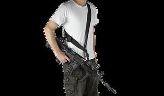 Ремень тактический FAB, 1-точечный/2-точечный черного цвета / ремень оружейный