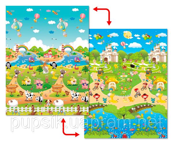 """Детский развивающий коврик пол Babypol """"Сказочная ферма"""" 1,8 х 1,5 м"""