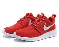 Кроссовки Nike Roshe Run (Red/White), фото 1