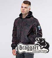 Бомбер демисезонный молодежный Braggart Youth - 30155L черный-красный