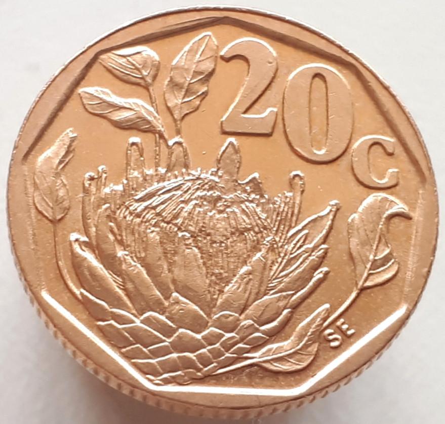 ЮАР 20 центов 1993