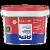 Акрилатная моющаяся матовая краска для стен и потолков AURA Luxpro ExtraMatt, А (белая), 10л