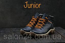 Подростковые ботинки кожаные зимние синие Twics К2