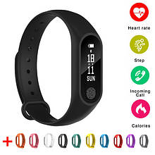 Умный фитнес браслет часы М2 Smart Bracelet шагомер пульсомер счетчик калорий
