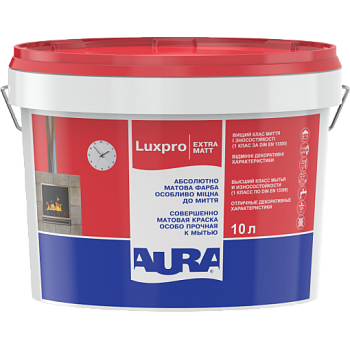 Краска для стен и потолков AURA Luxpro ExtraMatt, А (белая), 5л, фото 2