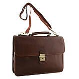 Мужской кожаный портфель, фото 2