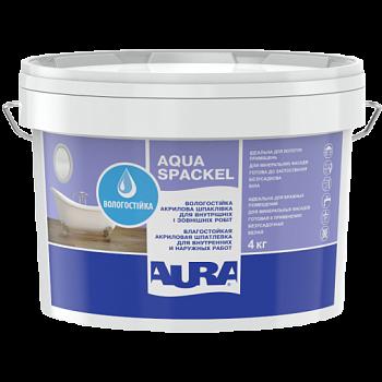Влагостойкая шпатлевка для внутренних и наружных работ AURA Luxpro Aqua Spackel, 4кг, фото 2