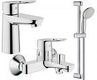 Набор смесителей для ванной S-size Grohe BauLoop 123214S, фото 1