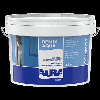 Акриловая декоративная эмаль AURA Luxpro Remix Aqua, глянцевая, А (белая), 0,75л, фото 2