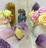 Птичка каменная 12 см. хризоккола, яшма, медовый кальцит, фото 3