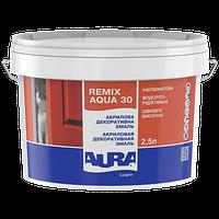 Акриловая декоративная эмаль AURA Luxpro Remix Aqua, полуматовая, TR (прозрачная), 2.5л