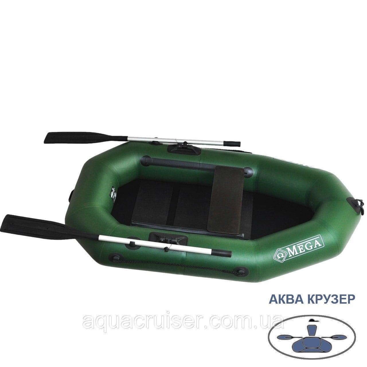 Надувная лодка пвх Omega Ω 210 LS (PS) - гребная одноместная лодка для рыбалки, охоты и отдыха