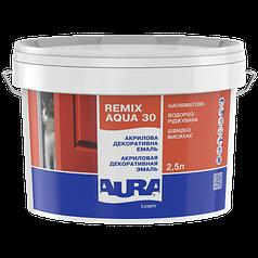 Акриловая декоративная эмаль AURA Luxpro Remix Aqua, полуматовая, TR (прозрачная), 0,7л