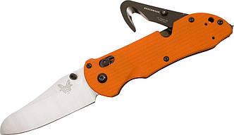 """Нож раскладной  Benchmade """"Triage SHP FT Axs"""" HK / американский нож  на 3 функции оранжевого цвета"""