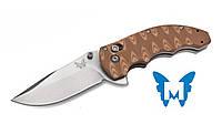 "Нож Benchmade ""Ball"" Axis Flip / американский нож коричневого цвета"