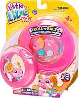 Little Live Pets — Интерактивный мышонок Вафелька с колесом
