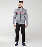 Спортивный костюм Bikk св.серый-красный, фото 1