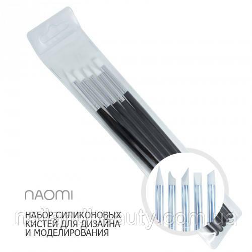 Набор силиконовых кистей для дизайна и моделирования (5 шт.)