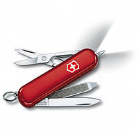Нож раскладной Victorinox Signature Lite Швейцарский нож на 7 функций красного цвета