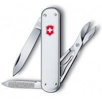 Нож раскладной Victorinox Money Clip Швейцарский нож на 5 функций серебристого цвета