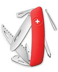 Нож раскладной Swiza J06 / Швейцарский нож на 12 инструментов красного цвета