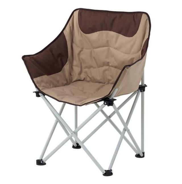 Кресло Ракушка д. 19 Оксфорд коричнево-бежевый