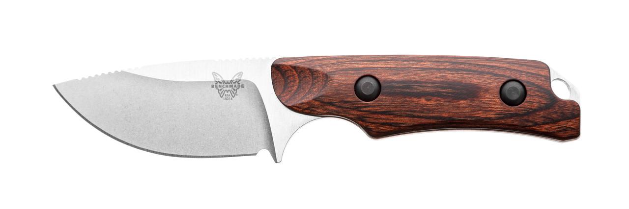 """Нож Benchmade """"Hidden Canyon Hunter"""" / Охотничий нож с деревяной рукояткой"""
