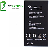 Оригинальный аккумулятор АКБ (Батарея) для Sigma X-treme IO67 2000 mAh 3.7V