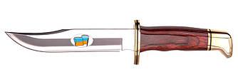 """Нож Buck """"119 Ukrainian"""" wood / Охотничий нож с деревяной рукояткой"""
