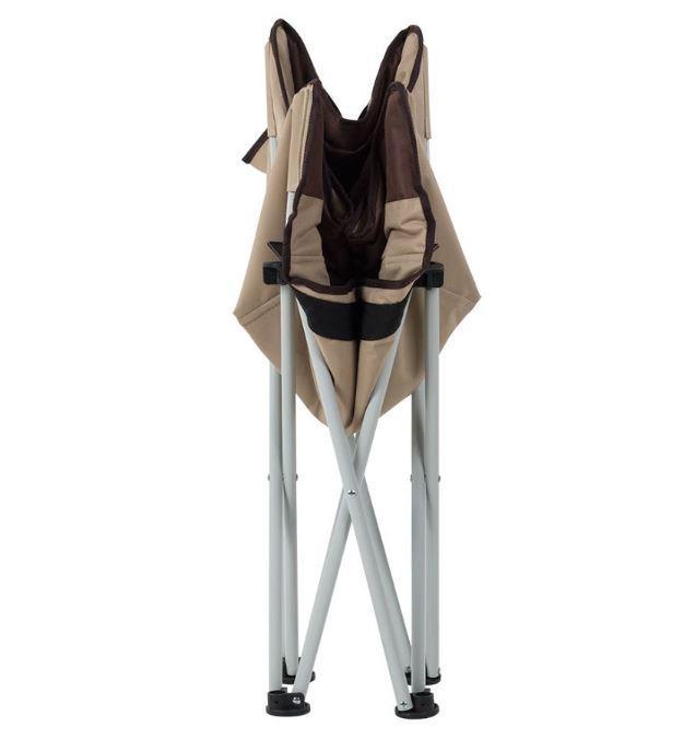 Кресло Ракушка д. 19 Оксфорд коричнево-бежевый (фото 2)