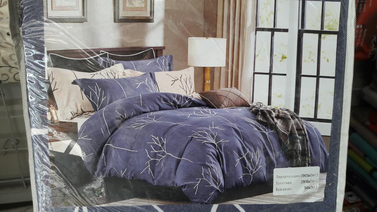 Комплект постельного белья полисатин Евро размер