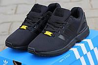 Кроссовки Adidas Flux черные 1920 (чоловічі кросовки адідас кроси теплі взуття  спортивне обувь спортивная) a42a59d3d952a