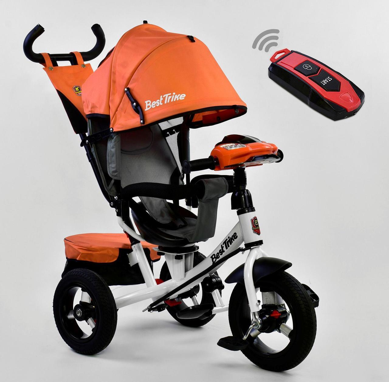 Bелосипед трехколесный Best Trike 7700 В - 6090 с надувными колесами Оранжевый 75106