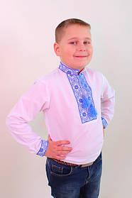 Вышиванка для мальчика федор с синей вышивкой