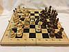Шахи дерев'яні 40 см c різьбленими фігурами Україна