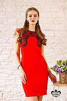"""Платье """"Гардения"""" (красный+черный), фото 1"""