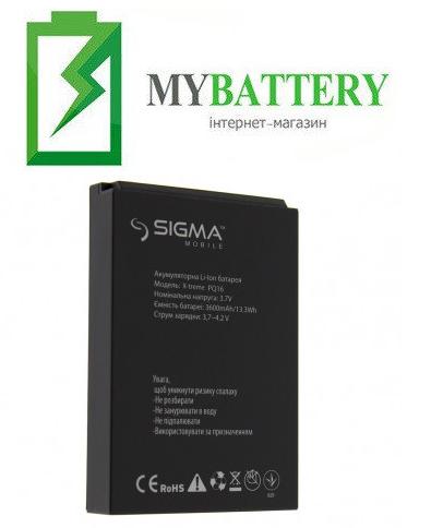 Оригинальный аккумулятор АКБ (Батарея) для Sigma X-treme PQ16 3600 mAh 3.7V