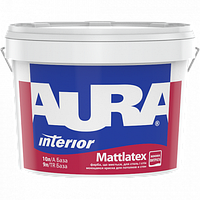 Фарба для стін та стель AURA Mattlatex, А (біла), 10л