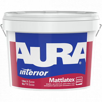 Фарба для стін та стель AURA Mattlatex, А (біла), 10л, фото 2