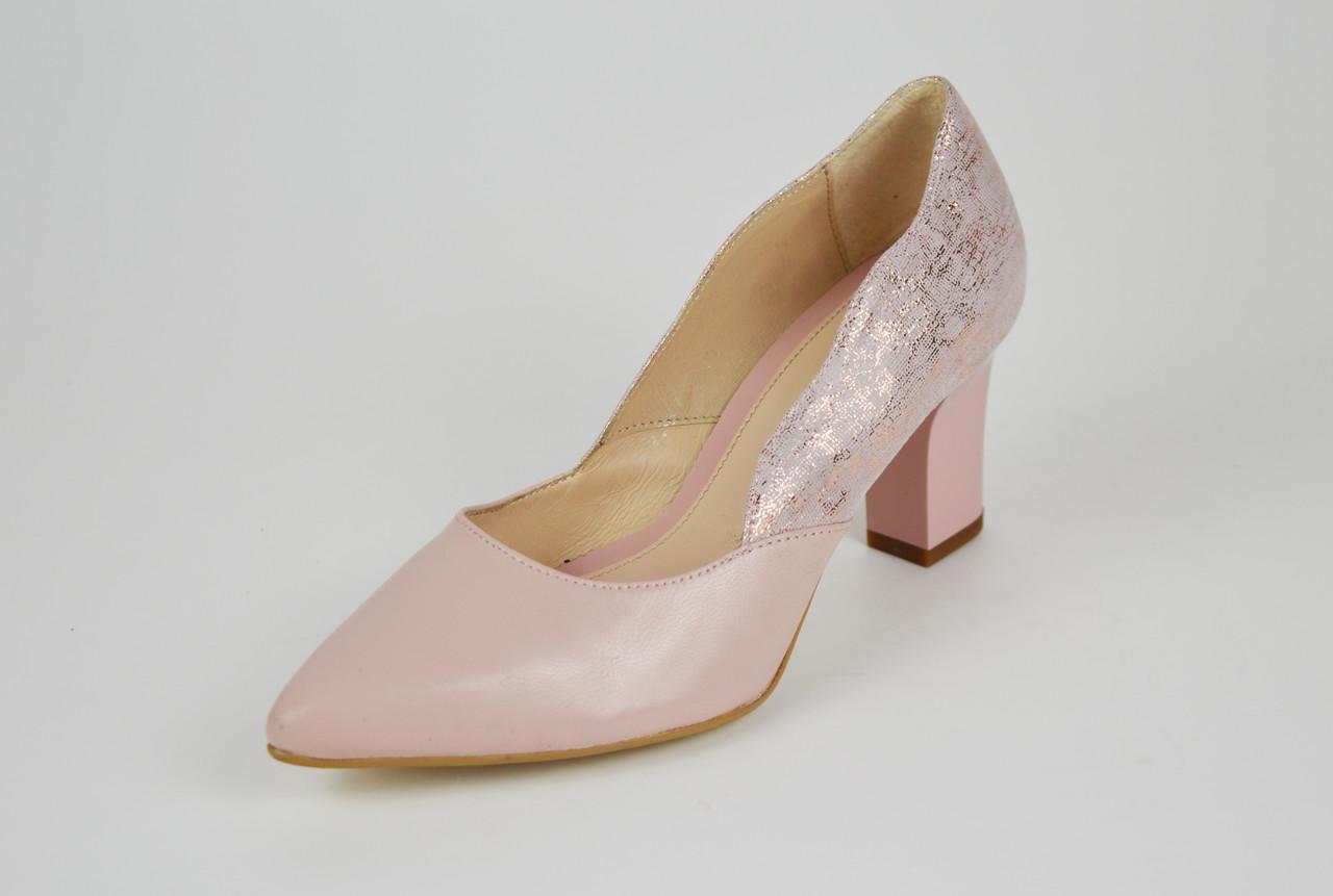 Туфли женские кожаные на каблуке Marco 1126