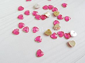 Серце пришивне 1 см рожеве