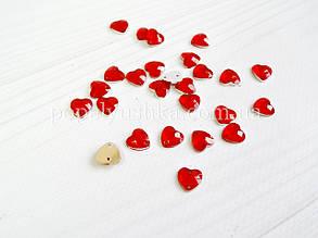 Серце пришивне 1 см червоне