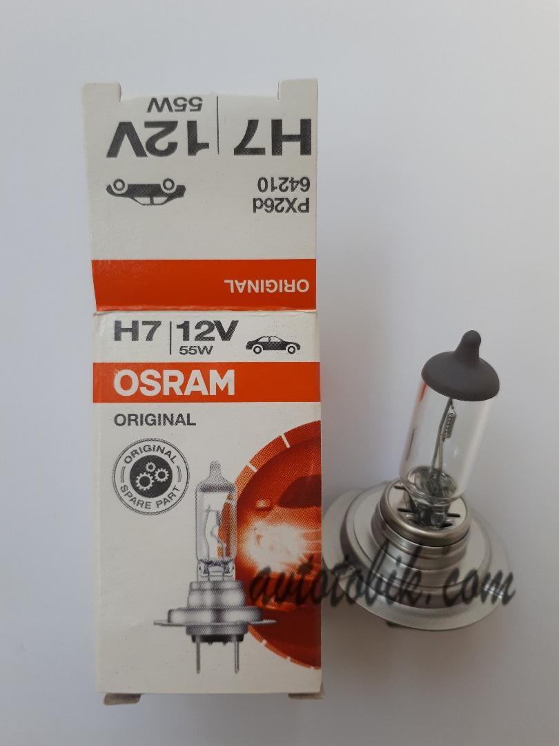 Автомобильная лампа Osram Original H7 12V 55W (1шт.)
