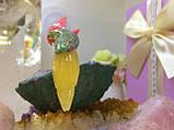 Птички-неразлучники, попугаи из натуральных самоцветов, фото 5