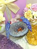 Птички-неразлучники, попугаи из натуральных самоцветов, фото 4