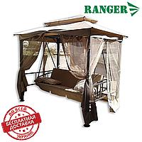 Садовые качели с тентом Ranger «Emotiv» раскладные 3-х местные