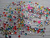 Микс размеров и цветов (стекло) 100шт
