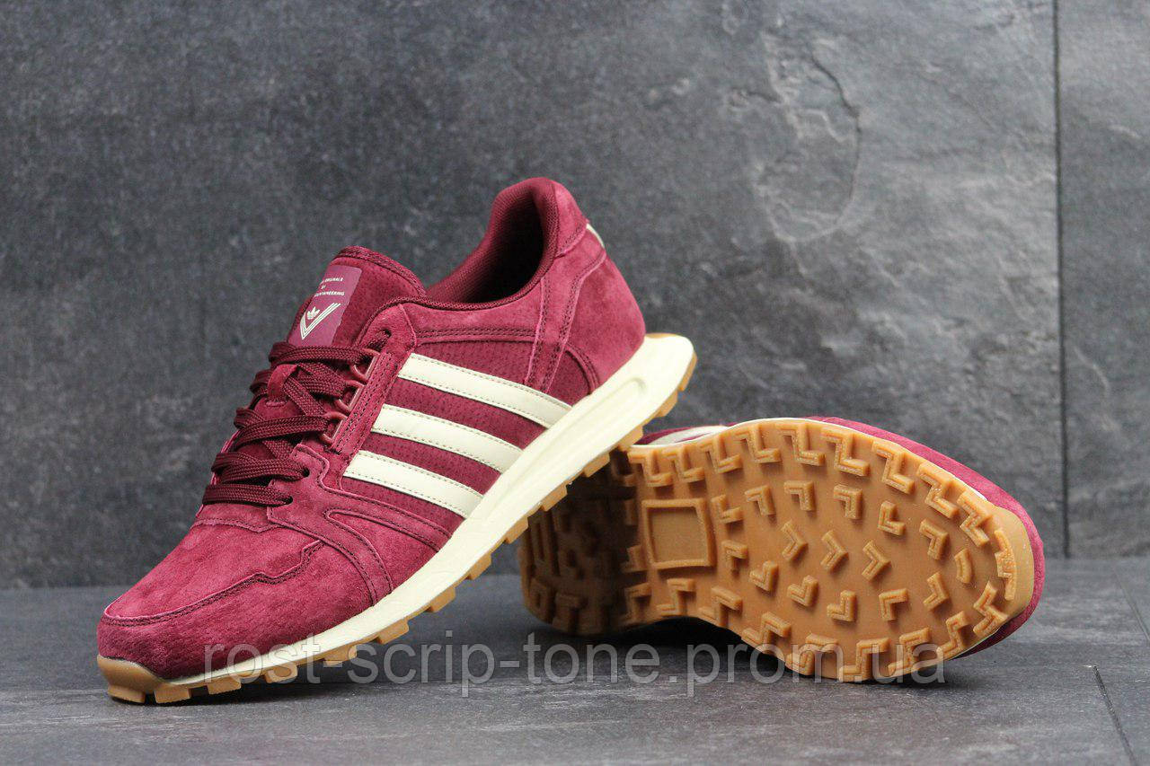 Кроссовки мужские Adidas Neo бордовые 4306 (чоловічі кросовки адідас кроси  взуття спортивне обувь спортивная) 45bd82bb1e014